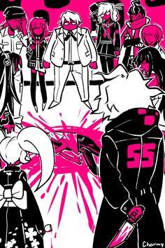 Danganronpa Funny, Danganronpa Characters, Monalisa, Familia Anime, Girls Anime, Nagito Komaeda, Trigger Happy, Fan Art, Art Memes