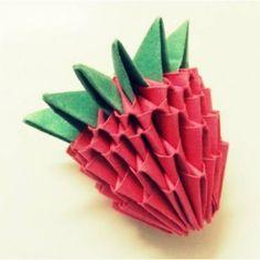 Modular Origami Strawberry – Tutorial