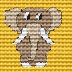 Funny Baby Elephant cross stitch pattern
