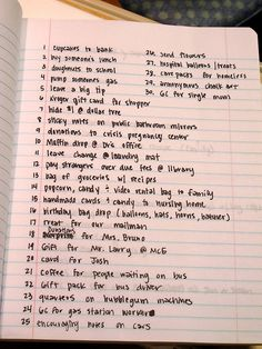 Random acts of kindness for Christmas! These could also be done year-round! I love number nine!