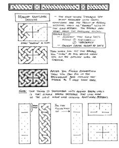 Celtic knotwork - how to draw Celtic Patterns, Doodle Patterns, Celtic Designs, Zentangle Patterns, Celtic Symbols, Celtic Art, Celtic Knots, Tangle Doodle, Doodles Zentangles