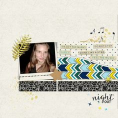 Night Ou by Ania Archer. Digital scrapbooking layout made with the Reflections At Night Bundle by Elif at Pixel Scrapper