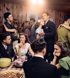 Teenage party in 1947.