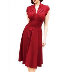 vespertine dress in crimson