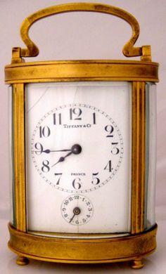 Antique Clocks | Antique Clocks Antique Miniature Tiffany + Co. Carriage Clock ...