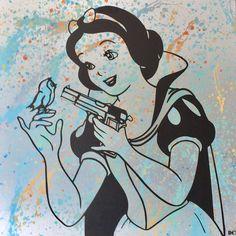 #artforsale #graffiti #art #dianaegerart #modernart #spraypaint #contemporaryart #artist #spraycanart #newyork #brushedaluminum #cavas #artshow #mrbrainwash #vitoschnabel #hongkong #frankfurt #kunst #paris #london #andywarhol #banksy #lichtenstein #gallery #acrylpainting #artlover #dianaeger #snowwhite #bird #gun
