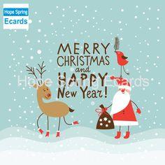 Merry Christmas and Happy New Year Postcard - christmas cards merry xmas diy cyo greetings Merry Christmas Images, Merry Christmas And Happy New Year, Merry Xmas, Christmas Greetings, Christmas Time, Christmas Windows, Merry Happy, Xmas Holidays, Funny Christmas