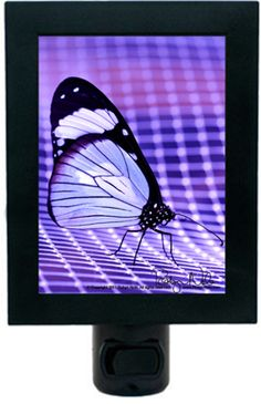 """If nothing ever changed, there would be no butterflies.""   ""Healing Light"" Butterfly Night Light by Robyn Nola"