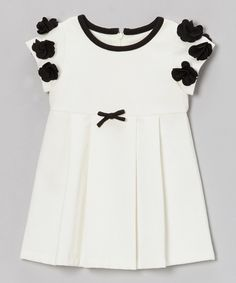 Take a look at this Off-White Darlene Cap-Sleeve Dress - Toddler & Girls on zulily today!
