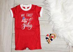 3b2f310b60ae My First 4th of July Romper - Red. Cuddle Sleep Dream