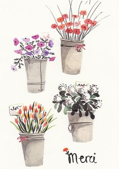 flowers, or at least drawings of them. by Emma Block