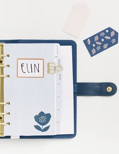 Be inspired to create a beautiful future with this kikki.K Medium Teal Personal Planner, which features a gorgeous metallic floral design on the cover.