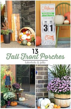 Great Ideas -- 13 Festive Fall Front Porches!