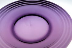 Retro Art Glass: Grape purple amethyst glass dinner plate set