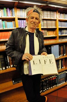 Keith Richards, seen here at the New York Public Library during a reading for his auto-bio.