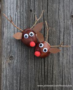 Petits rennes marron. Bricolage enfant http://pinterest.com/fleurysylvie/mes-creas-pour-les-kids/