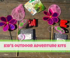 Summer activities for kids: outdoor adventure kits (getting girls interested in science)