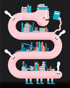 Andrew Groves: Illustration for Eight 48 magazine Andrew Groves, Character Illustration, Illustration Art, Creative Bookshelves, Final Fantasy Vi, Drawing Now, Game Design, Cool Drawings, Book Worms