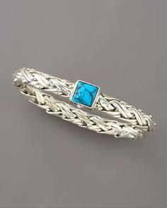 John Hardy  Classic Chain Turquoise Bracelet