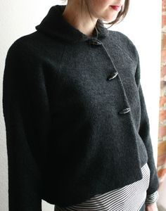 modaspia cropped black jacket