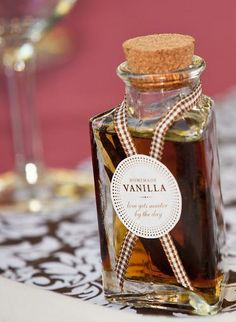 Loved seeing this on SMP... and these cute little bottles have me sold on this idea as favors!