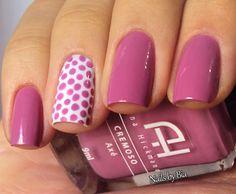 New nails pink art designs polka dots ideas Diy Nails, Cute Nails, Pretty Nails, Diy Nail Designs, Acrylic Nail Designs, Polka Dot Nails, Polka Dots, Vacation Nails, Leopard Nails