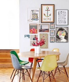 10 gallery wall secrets we learned on Instagram. #4: Busy prints appear as a unit when tightly grouped together