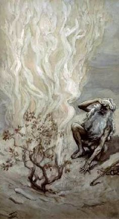 Phillip Medhurst presents 107/788 James Tissot Bible c 1899 Moses adores God in the burning bush Exodus 3:5 Jewish Museum New York. By a follower of (James) Jacques-Joseph Tissot, French, 1836-1902....