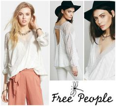 FREE-PEOPLE-VALLEY-CITY-LACE-OPEN-BACK-BOHO-BLOUSE-TOP-Sz-M-NEW-98