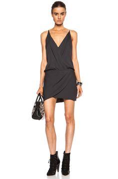 MASON BY MICHELLE MASON Cami Wrap Silk Mini Dress $425