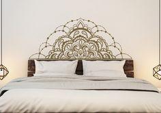 Half Mandala Vinyl Wall Decals for Bedroom Mandala by HomyVinyl