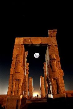Moon at Persepolis, near Shiraz in southern Iran