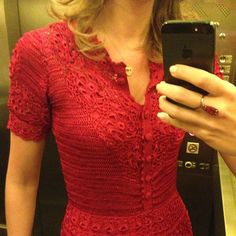 Vestido 'Giovana Dias' Crochet