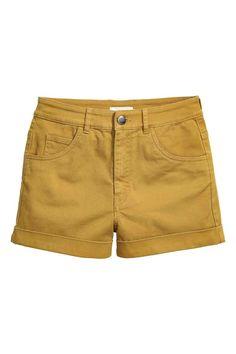 Mustard Yellow High Waist Short