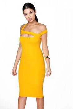 Jennie Strappy Cut Out Detail Midi Dress