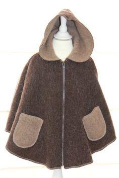 super warme wollen poncho met een hood van suziebee op DaWanda.com