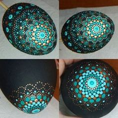 I like the colours - turquoise and gold on black