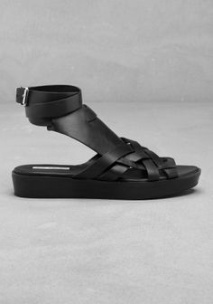 Leather sandals | Blue | & Other Stories