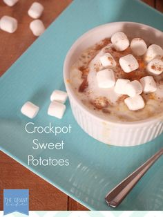 Crockpot Sweet Potatoes!  These are so easy and would be perfect for Thanksgiving!