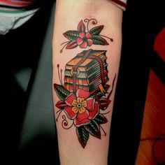 american traditional book tattoo - Google Search