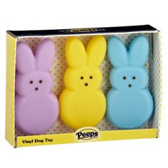 PEEPS® BRAND Vinyl Bunnies Value Pack - Toys - Dog - PetSmart #peeps