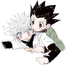 Gon x Killua (Hunter x Hunter) KilluGon Hisoka, Killua E Gon, Anime Manga, Anime Guys, Anime Art, Hunter Anime, Hunter X Hunter, Yugi, Hxh Characters