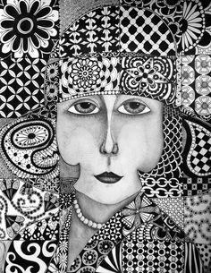 Pen and Ink Art Class - Zentangle Lots of ideas on http://penandinkartclass.blogspot.com/