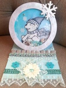 Circle Shaker Easel Card Using Diemond Dies Nesting Circles Dies Created by CraftyPaws