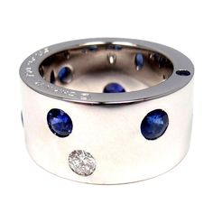 CHANEL Diamond & Sapphire White Gold Ring