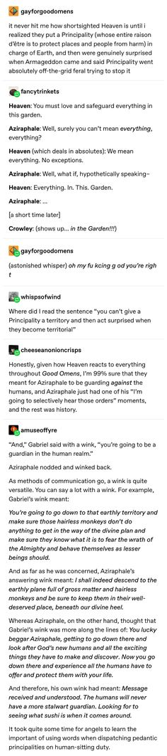 Writing Tips, Writing Prompts, Tumblr Funny, Funny Memes, Good Omens Book, Terry Pratchett, Geek Out, Crowley, Text Posts