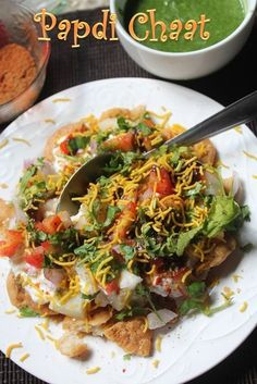 This is one delicious and easy chaat recipe which you can rustle up in few minutes. So easy to put together, but taste really spot on. I loved it to the core. Similar Recipes,Easy Aloo Chaat Pav…More Puri Recipes, Veg Recipes, Spicy Recipes, Indian Food Recipes, Vegetarian Recipes, Cooking Recipes, Vegetarian Biryani, Easy Recipes, Gourmet