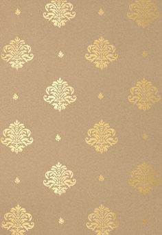This is a design I have throughout my home. Wallcovering / Wallpaper | Mayla Damask in Gilt | Schumacher