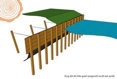 Beschoeiingswand hardhout / walbeschoeiing hout