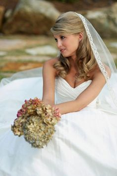 Half-up Half-Down Hairstyle For Long Hair #BridalHairstyles